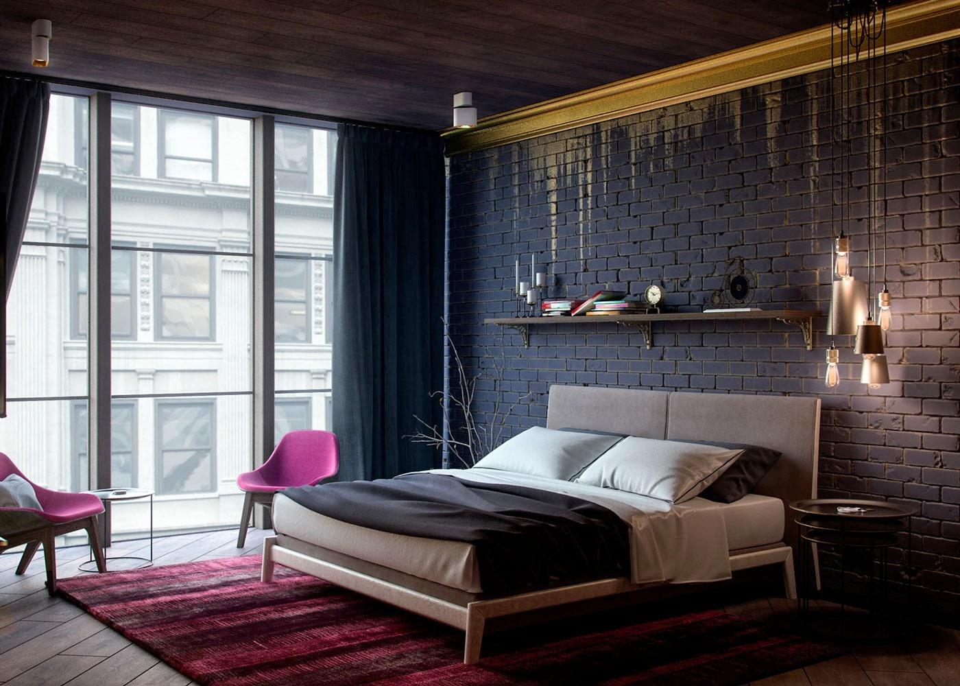 Thuy phong ngu 2 - Bí quyết thiết kế phòng ngủ cho người mệnh Thủy tiền vào như nước