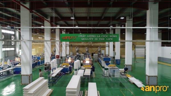 Nhà máy sản xuất tấm nhựa ốp tường của AnPro