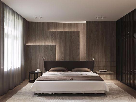 Phòng ngủ dùng tấm nhựa vân gỗ