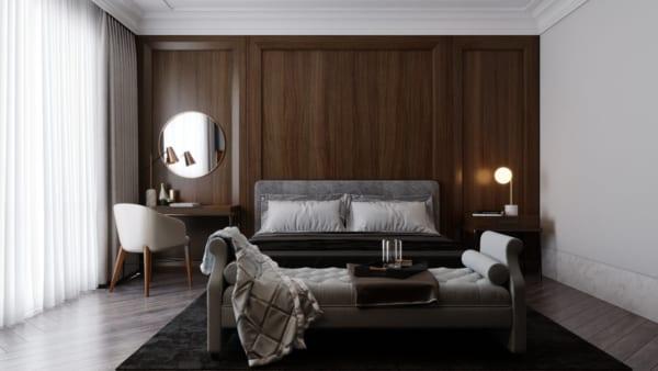 Tấm ốp nhựa vân gỗ cho phòng ngủ