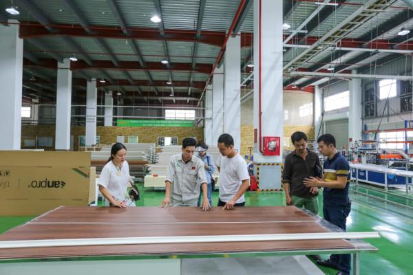 SON 4649 600x400 - Cùng kiến trúc sư Việt trải nghiệm thực tế nhà máy sản xuất AnPro