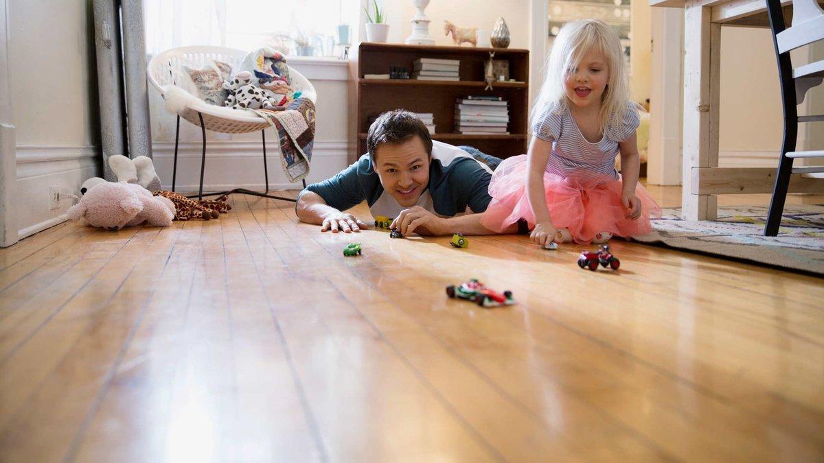 Mẫn sàn nhựa phù hợp cho gia đình có trẻ em