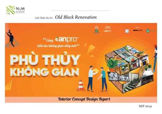 0001 1 566x400 - Bài dự thi N&M - Thiết kế lại khu căn hộ tập thể cũ ở Khương Thượng - Đống Đa - Hà Nội