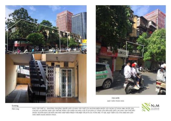 0002 1 566x400 - Bài dự thi N&M - Thiết kế lại khu căn hộ tập thể cũ ở Khương Thượng - Đống Đa - Hà Nội
