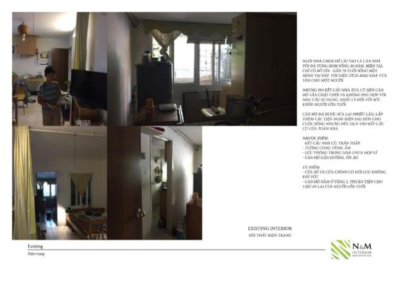 0003 1 566x400 - Bài dự thi N&M - Thiết kế lại khu căn hộ tập thể cũ ở Khương Thượng - Đống Đa - Hà Nội