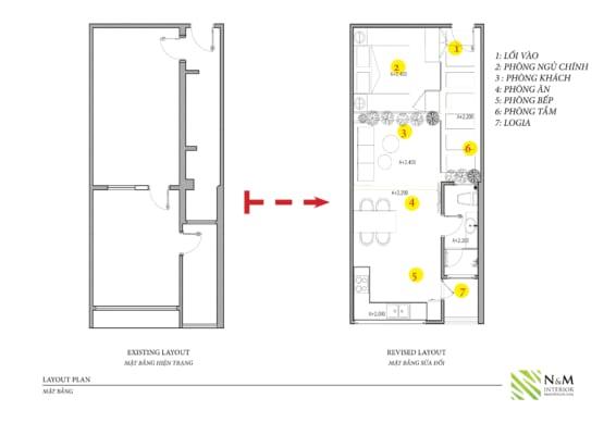 0004 1 566x400 - Bài dự thi N&M - Thiết kế lại khu căn hộ tập thể cũ ở Khương Thượng - Đống Đa - Hà Nội