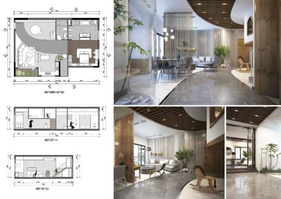 0004 2 566x400 - Bài dự thi của TRẦN TUẤN ANH – thiết kế căn hộ chung cư 95m2 dành cho cặp vợ chồng trẻ và cậu con trai 2 tuổi