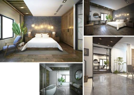 0007 2 566x400 - Bài dự thi của TRẦN TUẤN ANH – thiết kế căn hộ chung cư 95m2 dành cho cặp vợ chồng trẻ và cậu con trai 2 tuổi