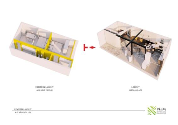 0007 566x400 - Bài dự thi N&M - Thiết kế lại khu căn hộ tập thể cũ ở Khương Thượng - Đống Đa - Hà Nội