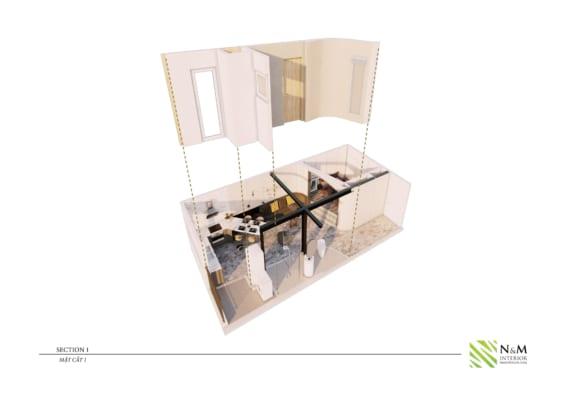 0008 566x400 - Bài dự thi N&M - Thiết kế lại khu căn hộ tập thể cũ ở Khương Thượng - Đống Đa - Hà Nội
