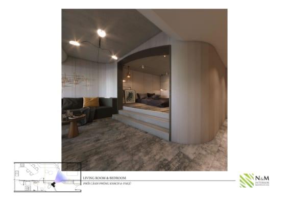 0013 566x400 - Bài dự thi N&M - Thiết kế lại khu căn hộ tập thể cũ ở Khương Thượng - Đống Đa - Hà Nội