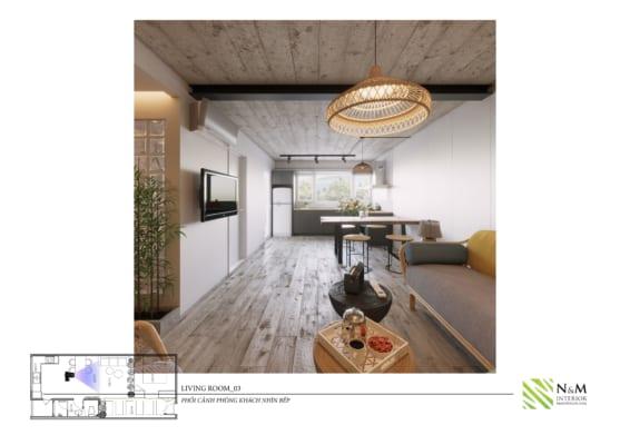 0014 1 566x400 - Bài dự thi N&M - Thiết kế lại khu căn hộ tập thể cũ ở Khương Thượng - Đống Đa - Hà Nội