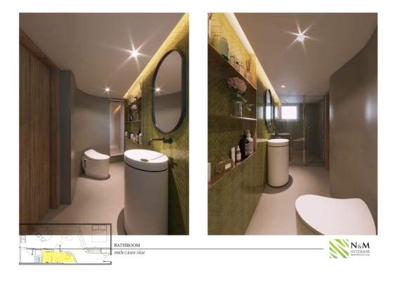 0016 566x400 - Bài dự thi N&M - Thiết kế lại khu căn hộ tập thể cũ ở Khương Thượng - Đống Đa - Hà Nội