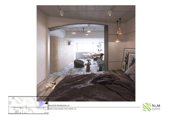 0017 566x400 - Bài dự thi N&M - Thiết kế lại khu căn hộ tập thể cũ ở Khương Thượng - Đống Đa - Hà Nội