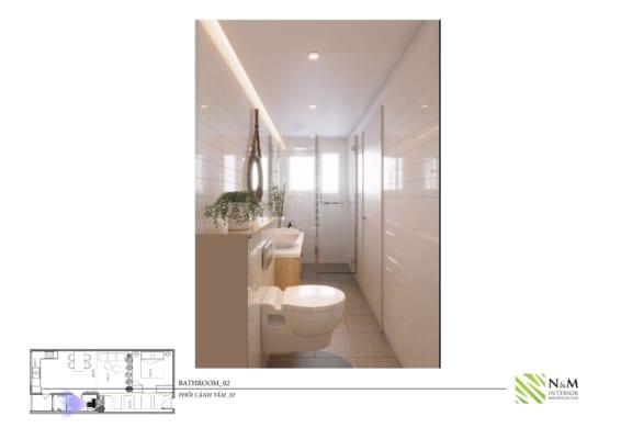0018 1 566x400 - Bài dự thi N&M - Thiết kế lại khu căn hộ tập thể cũ ở Khương Thượng - Đống Đa - Hà Nội