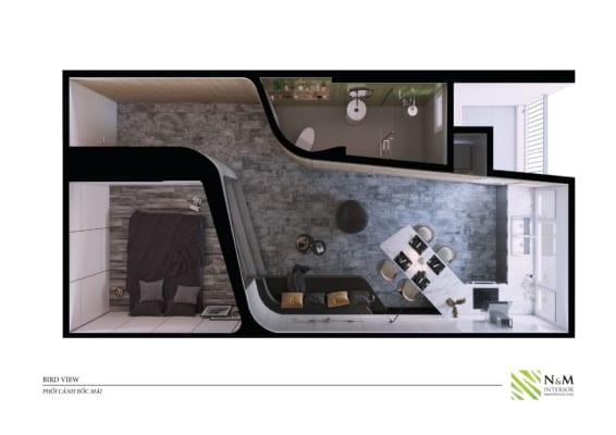 0019 566x400 - Bài dự thi N&M - Thiết kế lại khu căn hộ tập thể cũ ở Khương Thượng - Đống Đa - Hà Nội