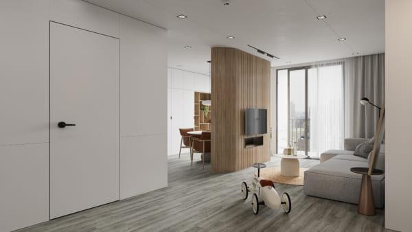 KHACH BEP 10 600x338 - Bài dự thi của TRẦN XUÂN NGHĨA - Thiết kế và cải tạo không gian nội thất khách bếp căn hộ Chung cư An Bình City.