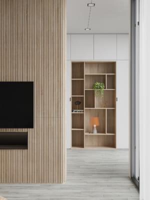 KHACH BEP 2 300x400 - Bài dự thi của TRẦN XUÂN NGHĨA - Thiết kế và cải tạo không gian nội thất khách bếp căn hộ Chung cư An Bình City.
