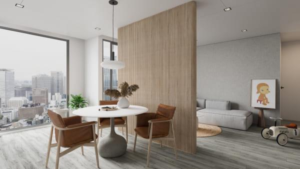 KHACH BEP 4 600x338 - Bài dự thi của TRẦN XUÂN NGHĨA - Thiết kế và cải tạo không gian nội thất khách bếp căn hộ Chung cư An Bình City.