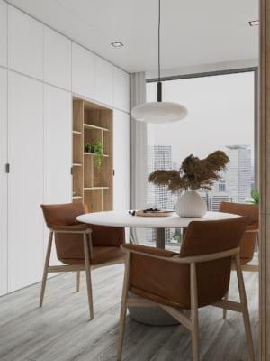 KHACH BEP 6 300x400 - Bài dự thi của TRẦN XUÂN NGHĨA - Thiết kế và cải tạo không gian nội thất khách bếp căn hộ Chung cư An Bình City.