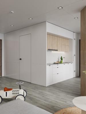 KHACH BEP 8 300x400 - Bài dự thi của TRẦN XUÂN NGHĨA - Thiết kế và cải tạo không gian nội thất khách bếp căn hộ Chung cư An Bình City.