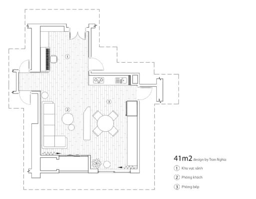 MBBT 513x400 - Bài dự thi của TRẦN XUÂN NGHĨA - Thiết kế và cải tạo không gian nội thất khách bếp căn hộ Chung cư An Bình City.