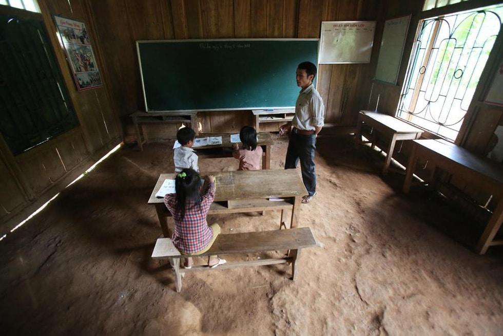 Trong chớp mắt, trường học dột nát vùng cao thành trường trong mơ - Ảnh 2.