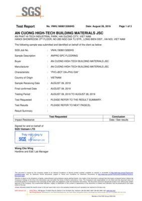 9 Chứng nhận Impact Resistance ASTM F1265 03a Kháng va đập wall panel anpro 283x400 - Chứng nhận sản phẩm