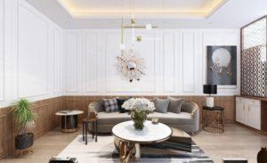 Không gian phòng khách cũng trở nên thoáng rộng hơn nhờ thiết kế cửa sổ đón ánh sáng tự nhiên.