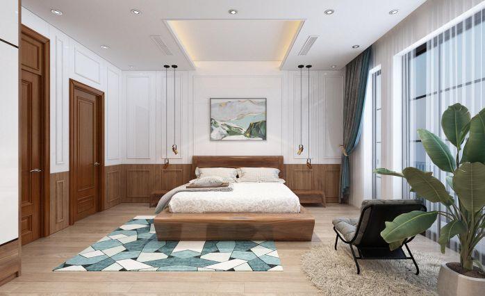 Phòng ngủ mệnh mộc anpro - AnPro wall panels