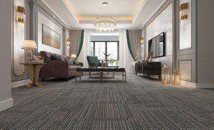 Sàn nhựa vân thảm mang đến hiệu ứng thẩm mĩ cao mà vẫn đảm bảo yếu tố chống nồm ẩm, trơn trượt (Ảnh: AnPro)