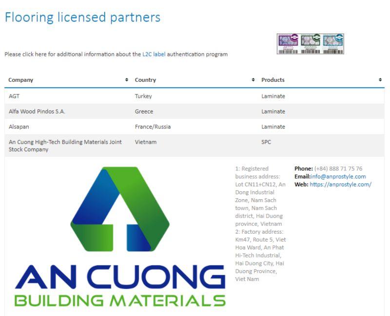 15 Unilin wall panel anpro - Certificates