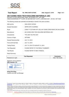 5 Chứng nhận Resistance To Light ASTM F1515 Không thay đổi tính chất sản phẩm khi thay đổi nguồn sáng khác nhau wall panel anpro 283x400 - Certificates