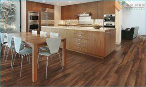 Sàn cho nhà bếp bằng gỗ tự nhiên sang trọng