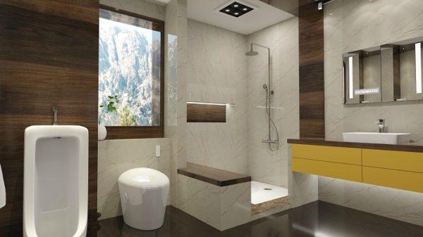 Anh 1 1 600x337 - Có thể dùng sản phẩm gì thay thế đá tự nhiên trong phòng tắm?