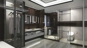 Sàn SPC hèm khóa AnPro với nhiều tông màu giúp bạn có nhiều lựa chọn cho phòng tắm